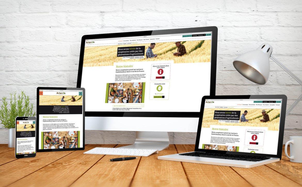 digital business website responsive design screen multidevices